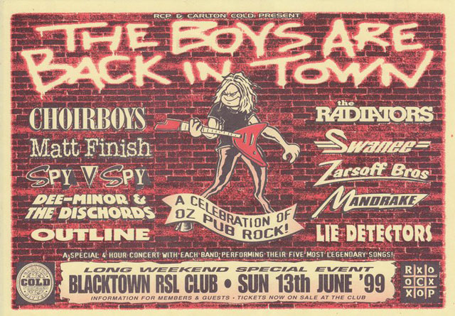 The Boys Are Back In Town Show – June 1999 post image
